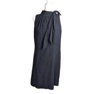 NWT Ann Taylor black sleeveless mock neck dress